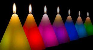 velas de colores magia rituales